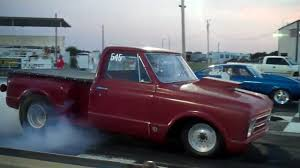Drag Racing the 67 Chevy truck - YouTube