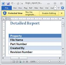 Ms Word Report Ms Word Report From Inventor 2014 Cadline Community