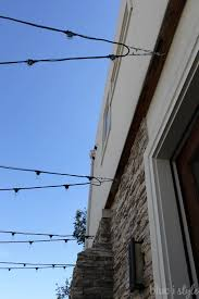 how to hang patio string lights commercial grade string lights are ideal for permanent installation