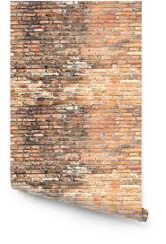 old red grunge brick wall wallpaper