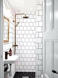 hex tile bathroom black marble hex tile floor with small subway wall tiles with gold finished mirror for amazing small bathroom design hexagon tile bathroom
