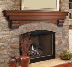 oak fireplace mantel shelf