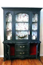 buffet with glass doors. Buffet Cabinet With Glass Doors White China Black Hutch And Fronted F