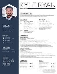 Resmue Template Free Web Developer Resume Template Download 200 Resume Templates