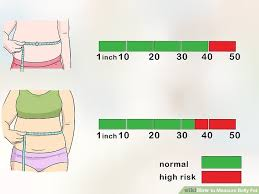 Pregnancy Stomach Measurement Chart 3 Ways To Measure Belly Fat Wikihow
