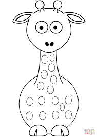 Printable Coloring Pages coloring page giraffe : Cartoon Giraffe coloring page | Free Printable Coloring Pages