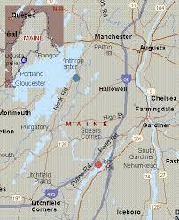 Map For Cobbosseecontee Stream Maine White Water