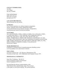 Ascii Resume Samples Ascii Text Resume Example