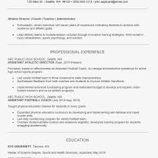 Program Director Resume Athletic Director Cover Letter And Resume Examples