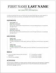 Template For Resume Word Magdalene Project Org