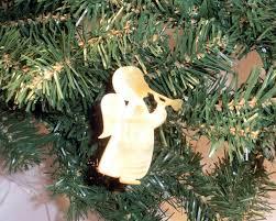Teliel Engel Mit Trompete Aus Echtem Perlmutt Christbaumschmuck Weihnachtsbaum