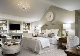 Classic Elegant Bedroom With Large Headboard In Grey Tone With Artistic  Carve