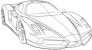 Small Picture Ferrari Sport Car High Speed Coloring Page Ferrari car coloring