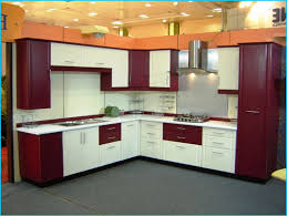 Indian Open Kitchen Cabinets Lovely White And Black Top Granite