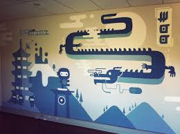 wall murals office. One Of The Two Office Murals WooNinjas Fighting Dragons Who Could Ask For More Wall