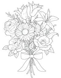 Flower Images Coloring Pages Spring Flowers Coloring Pictures