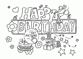 Small Picture funny happy birthday letters card coloring page for kids holiday