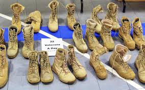 u s department of defense photo essay  the joint services support directorate for the washington national guard displays 22 pairs of combat boots