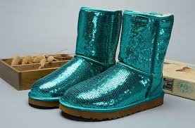 UGG Women Classic Short Sparkles 3161 Boots Green