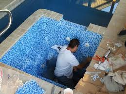 custom pool tile installation