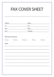 Free Printable Fax Cover Sheet Template In Pdf Word Excel