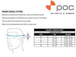 Black Crane Size Chart Poc Crane Pure Helmet Black
