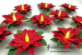 Weihnachtsstern Teelicht Poinsettia Tea Light Inkl