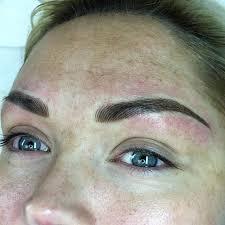eyebrow shading. notice background shading enhances the already natural hair-stroke brows eyebrow i