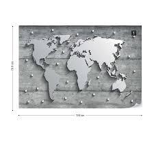 modern 3d world map concrete texture