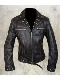 python leather jacket