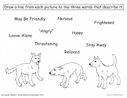 Small Picture Dog Body Language Coloring Page for Children