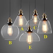 modern glass lighting. Modern Glass Pendant Lights Industrial Edison Lamp Bar Restaurant Light Transparent/Amber Retro Lighting C