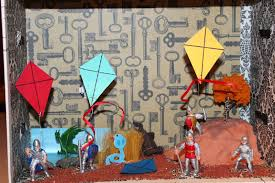 english honours  for my creative project i decided to create a symbolic diorama of a crucial scene in the kite runner the scene i chose was the day of the kite fighting