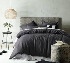 accessorize dark grey linen blend quilt cover set reviews temple