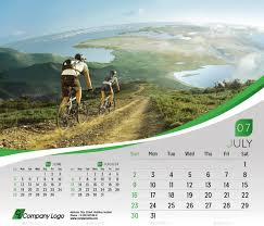 desk calendar design templates