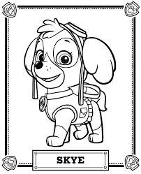 Paw Patrol Coloring Pages Skye Paw Patrol Coloring Pa Tophers
