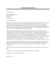 cover letter analyst template cover letter analyst