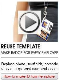 Company Id Badge Template Online Id Badge Maker Low Cost And Professional Card