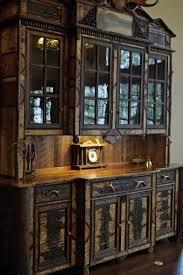 rustic dining room hutch. Adirondack Rustic Hutch Rustic-dining-room Dining Room U