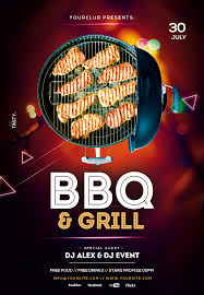Free Party Flyer Templates Bbq Flyer Template Psd Ai Vector Brandpacks Barbecue Party