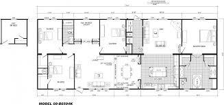 4 bedroom floor plan b 6594 hawks homes manufactured 4 bedroom 3 bath modular home plans