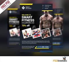 Free Fitness Flyer Templates Fitness or Gym Flyer template Free PSD PSDFreebies 1