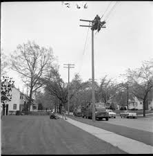 detroit edison workers re electrical service lost in the windstorm may 1959