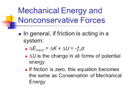 mechanical energy and nonconservative forces
