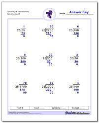 Long Division Process Chart Long Division Worksheets