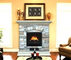 stone electric fireplace stand rock fireplaces look st