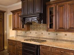 stone tile kitchen countertops. Divine Various Kitchen Backsplash For Decoration : Delectable Picture Of Using Mahogany Wood Stone Tile Countertops N