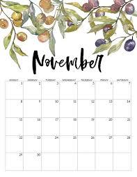 November 2020 Calendar Printables Pdf 2020 Free Printable Calendar Floral Paper Trail Design