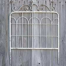white metal garden gate wall decor