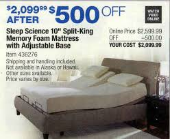 sleep science mattress costco. Beautiful Mattress SleepScience10SplitKingMemoryFoamMattressAdjustableBase To Sleep Science Mattress Costco 1
